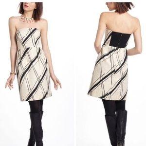 ANTHRO Girls from Savoy Dashed Gilt Brocade Dress